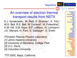 An overview of electron thermal transport results from NSTX