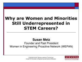 Why are Women and Minorities Still Underrepresented in  STEM Careers?