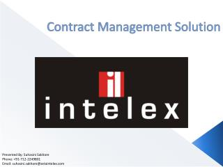 Contract Management Solution