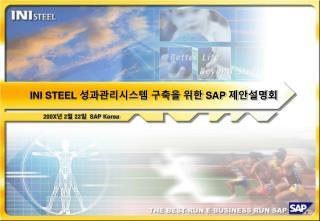 INI STEEL    SAP