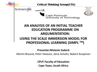 AN ANALYSIS OF AN INITIAL TEACHER EDUCATION PROGRAMME ON ARGUMENTATION: