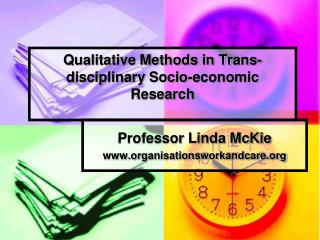 Qualitative Methods in Trans-disciplinary Socio-economic Research