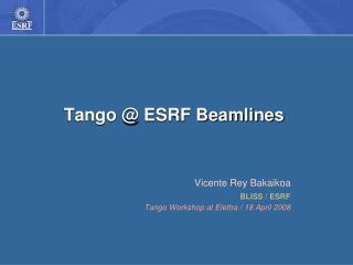 Tango @ ESRF Beamlines