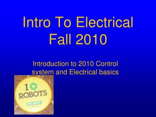 Intro To Electrical  Fall 2010