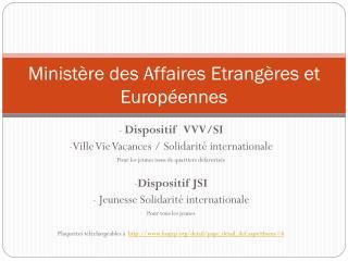 Ministère des Affaires Etrangères et Européennes