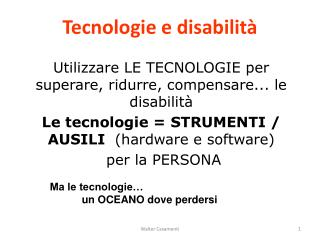 Tecnologie e disabilit