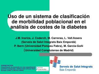 J . M .  Inoriza, J. Coderch, M. Carreras, L. Vall.llosera