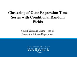 Clustering of Gene Expression Time Series with Conditional Random Fields