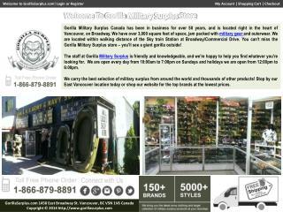 Military Surplus Supply, Army Clothing, BDU Uniforms Store: