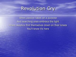 Revolution Cry