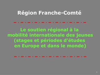 Le soutien régional à la  mobilité internationale des jeunes (stages et périodes d'études