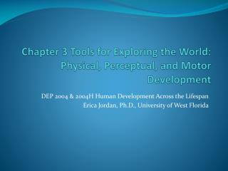 Chapter  3 Tools  for Exploring the  World:  Physical, Perceptual, and Motor Development