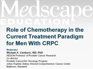 Role of Chemotherapy in the Current Treatment Paradigm for Men With CRPC