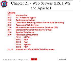 Chapter 21 - Web Servers (IIS, PWS and Apache)