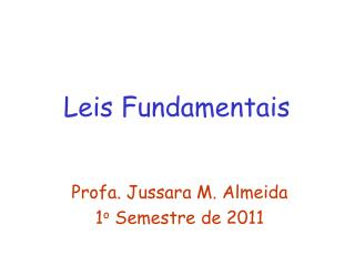 Leis Fundamentais