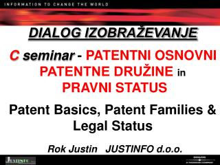 "IZRAZ ""PATENT"" v DIALOG BAZAH (1/1-1)"
