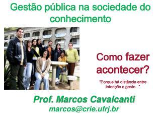 Gestão pública na sociedade do conhecimento