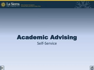 Academic Advising Self-Service