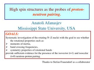 High spin structures as the probes of  proton-neutron pairing.