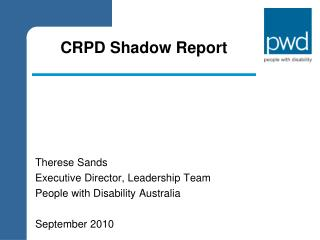 CRPD Shadow Report