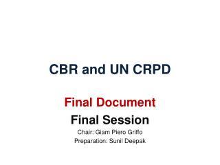 CBR and UN CRPD