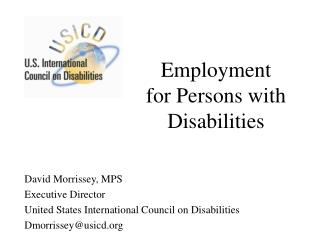 Employment for Persons with Disabilities