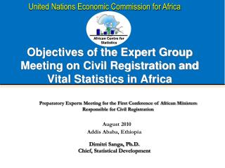 Objectives of the Expert Group Meeting on Civil Registration and Vital Statistics in Africa