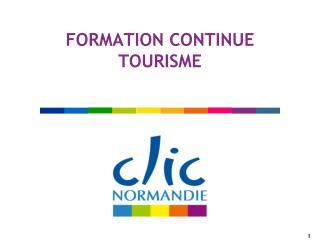 FORMATION CONTINUE TOURISME