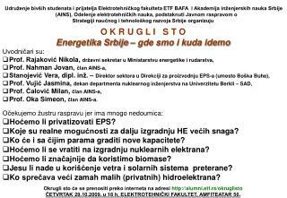 Energetika Srbije crno