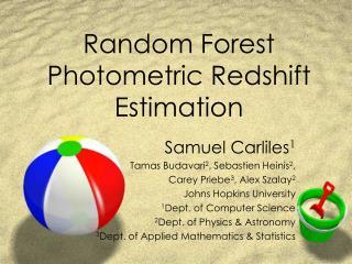 Random Forest Photometric Redshift Estimation