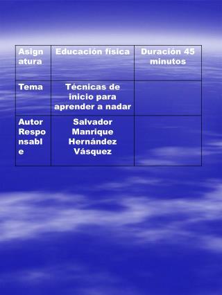 GUION DE CLASES