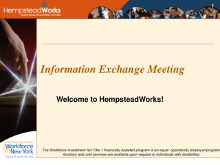 Information Exchange Meeting
