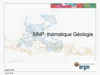 SINP: th�matique G�ologie