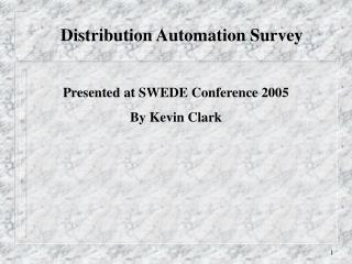Distribution Automation Survey