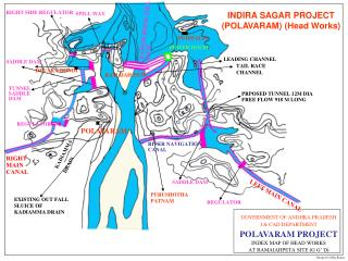 INDIRA SAGAR PROJECT POLAVARAM PROJECT Utilisation : 301.00TMC, Irrigation : 7.21Lakh Acres, Power Generation : 960MW di