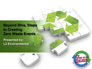 Beyond Bins, Steps to Creating  Zero Waste Events