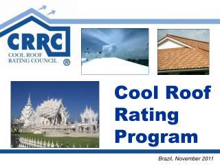 Cool Roof Rating Program