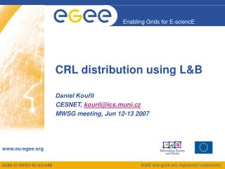 CRL distribution using L&B