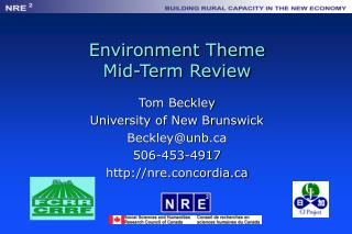 Environment Theme Mid-Term Review