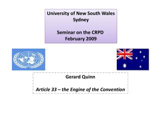 University of New South Wales Sydney Seminar on the CRPD  February 2009