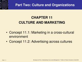 Part Two: Culture and Organizations