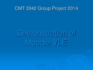 CMT 3342 Group Project 2014