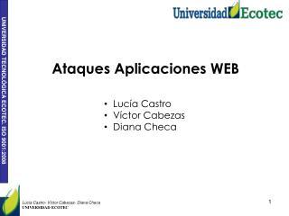 Ataques Aplicaciones WEB