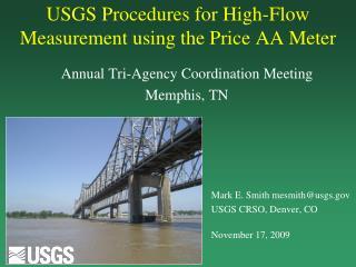 USGS Procedures for High-Flow Measurement using the Price AA Meter
