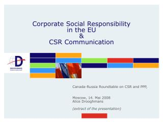 Corporate  Social  Responsibility  in the EU & CSR Communication