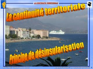 La continuité territoriale