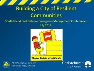 Building a City of Resilient Communities
