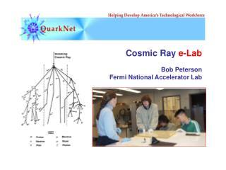Cosmic Ray  e-Lab Bob Peterson Fermi National Accelerator Lab