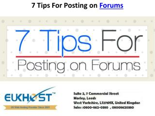 7 Tips for posting on Forums