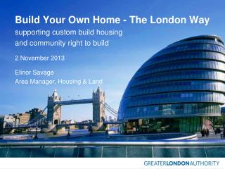 Build Your Own Home - The London Way supporting custom build housing  and community right to build